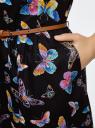 Платье без рукава с карманами oodji для женщины (черный), 12C13008/20015/2919U