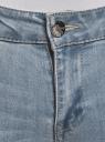 Джинсы slim базовые oodji для женщины (синий), 12103144B/46734/7000W