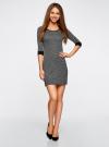 Платье жаккардовое с геометрическим узором oodji #SECTION_NAME# (серый), 14001064-6/35468/2912J - вид 2