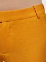 Брюки льняные прямые oodji #SECTION_NAME# (оранжевый), 21701092/16009/5500N - вид 4