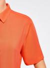 Блузка вискозная с короткими рукавами oodji #SECTION_NAME# (оранжевый), 11411137B/14897/5500N - вид 5