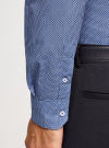 Рубашка приталенная в мелкий рисунок oodji #SECTION_NAME# (синий), 3L110241M/19370N/7975G - вид 5