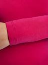 Футболка с длинным рукавом (комплект из 3 штук) oodji для женщины (розовый), 24201007T3/46147/4701N