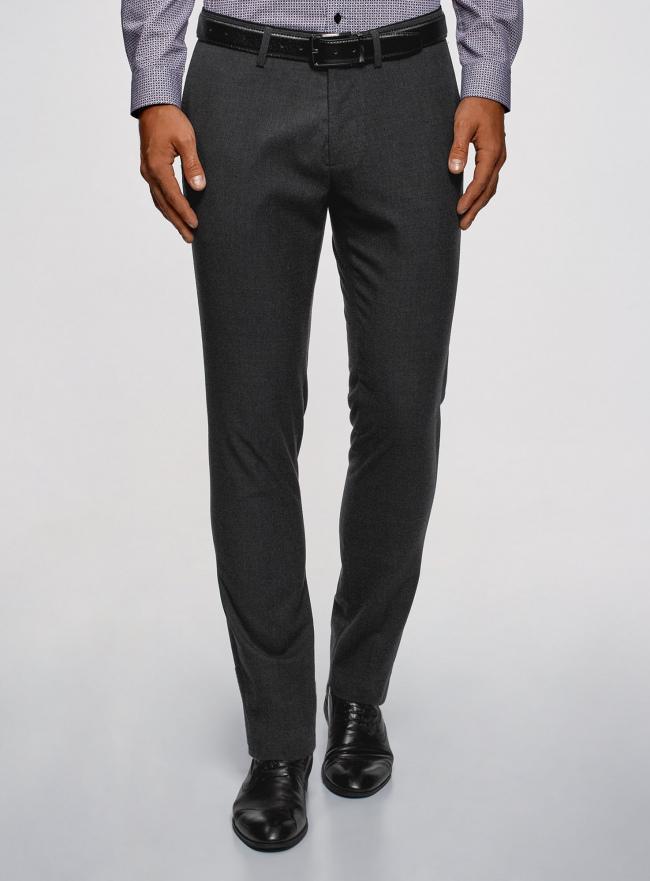 Брюки классические slim fit oodji для мужчины (серый), 2L210243M/48561N/2500O