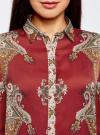 Блузка из струящейся ткани с принтом oodji #SECTION_NAME# (красный), 21411144-3/35542/4939E - вид 4