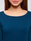 Платье трикотажное облегающего силуэта oodji для женщины (синий), 14001183B/46148/7901N - вид 4