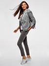 Джинсы skinny со средней посадкой oodji для женщины (серый), 12103167/47548/2300W - вид 6