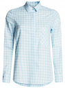 Рубашка свободного силуэта с регулировкой длины рукава oodji #SECTION_NAME# (синий), 11411099-1/43566/7010C