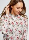 Блузка вискозная А-образного силуэта oodji #SECTION_NAME# (белый), 21411113B/26346/3041F - вид 4