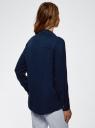Блузка вискозная с нагрудным карманом oodji #SECTION_NAME# (синий), 13L11012-1/47741/7900N - вид 3