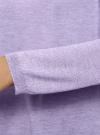 Джемпер свободного силуэта с вырезом-лодочкой oodji #SECTION_NAME# (фиолетовый), 63812580B/45494/8000M - вид 5