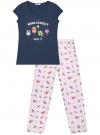 Пижама хлопковая с брюками oodji для женщины (синий), 56002074-1/46158/7941P
