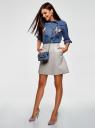 Рубашка джинсовая с нашивками oodji для женщины (синий), 16A09007/47925/7500W