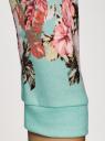 Свитшот принтованный с рукавом 3/4 oodji для женщины (бирюзовый), 14801021-2/15640/7340P