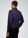 Рубашка принтованная приталенного силуэта oodji #SECTION_NAME# (синий), 3L310124M/39749N/7975D - вид 3