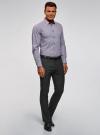 Брюки классические slim fit oodji для мужчины (серый), 2L210243M/48561N/2500O - вид 6