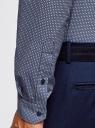 Рубашка приталенная с графичным принтом oodji #SECTION_NAME# (синий), 3L110340M/19370N/7910G - вид 5