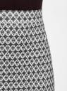 Юбка-карандаш принтованная oodji для женщины (черный), 14101099/47420/2910E