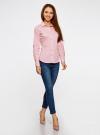 Рубашка хлопковая с металлическими кнопками oodji #SECTION_NAME# (розовый), 21406034-1/42083/4000N - вид 6