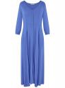 Платье макси на пуговицах oodji для женщины (синий), 11901148/24681/7504N