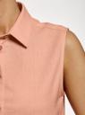 Рубашка прямая без рукавов oodji #SECTION_NAME# (розовый), 14911017/49224/5400N - вид 5