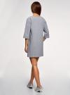 Платье прямого силуэта с надписью на груди oodji #SECTION_NAME# (серый), 14008028-3/48940/2040Z - вид 3