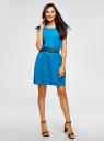 Платье вискозное без рукавов oodji #SECTION_NAME# (синий), 11910073B/26346/7500N - вид 2