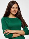 Платье облегающего силуэта на молнии oodji #SECTION_NAME# (зеленый), 14001105-6B/46944/6E00N - вид 4