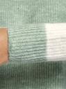 Джемпер фактурной вязки с круглым вырезом oodji для женщины (зеленый), 63807335-2/48517/6212S
