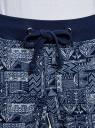 Брюки трикотажные на завязках oodji #SECTION_NAME# (синий), 16701042-1/46919/7910G - вид 4