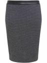 Юбка трикотажная oodji для женщины (черный), 24101042-1/37844/2912M