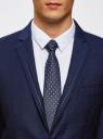 Пиджак приталенный с декоративной отделкой oodji #SECTION_NAME# (синий), 2L420211M/47308N/7975O - вид 4