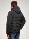 Куртка утепленная с капюшоном oodji #SECTION_NAME# (черный), 1B112006M-1/39877N/2900N - вид 3