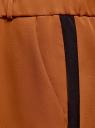 Брюки на эластичном поясе с лампасами oodji #SECTION_NAME# (коричневый), 11703097/42830/3129B - вид 5