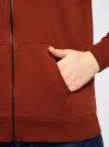 Толстовка с капюшоном и карманами oodji #SECTION_NAME# (красный), 16901079-2B/46934/3100N - вид 5