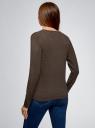 Кардиган вязаный на пуговицах oodji для женщины (коричневый), 73212401-2B/45647/3900M