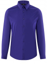 Рубашка базовая приталенная oodji #SECTION_NAME# (синий), 3B140000M/34146N/7500N