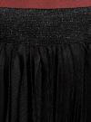 Юбка плиссе из сетки oodji #SECTION_NAME# (черный), 14100083/24205/2900N - вид 4