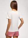 Пижама с шортами и принтом oodji #SECTION_NAME# (белый), 56002213-7/44135N/124BP - вид 3