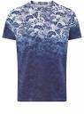 Футболка принтованная из хлопка oodji для мужчины (синий), 5L621002I-45/39485N/1079G