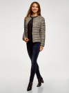 Куртка стеганая с круглым вырезом oodji для женщины (бежевый), 10204040-1B/42257/3329A - вид 6