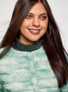 Куртка стеганая с круглым вырезом oodji для женщины (зеленый), 10204040-1B/42257/6560O - вид 4