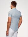 Рубашка принтованная с коротким рукавом oodji #SECTION_NAME# (синий), 3L410092M/19370N/7579F - вид 3