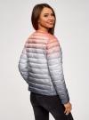 Куртка стеганая с круглым вырезом oodji для женщины (разноцветный), 10204040-1B/42257/4575T - вид 3