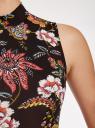 Платье облегающего силуэта с воротником-стойкой oodji #SECTION_NAME# (черный), 14005138-3B/46943/294AF - вид 5