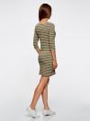 Платье трикотажное базовое oodji для женщины (зеленый), 14001071-2B/46148/6630S - вид 3