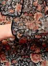 Блузка принтованная с кисточками и резинками oodji #SECTION_NAME# (коричневый), 21411107/17358/3755F - вид 5