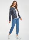 Куртка стеганая с круглым вырезом oodji #SECTION_NAME# (синий), 10204040-1B/42257/7919A - вид 6