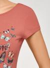 Платье миди с вырезом на спине oodji #SECTION_NAME# (розовый), 24001104-12/47420/3169P - вид 5