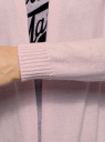 Кардиган удлиненный без застежки oodji #SECTION_NAME# (розовый), 73212385-1B/43755/4000M - вид 5